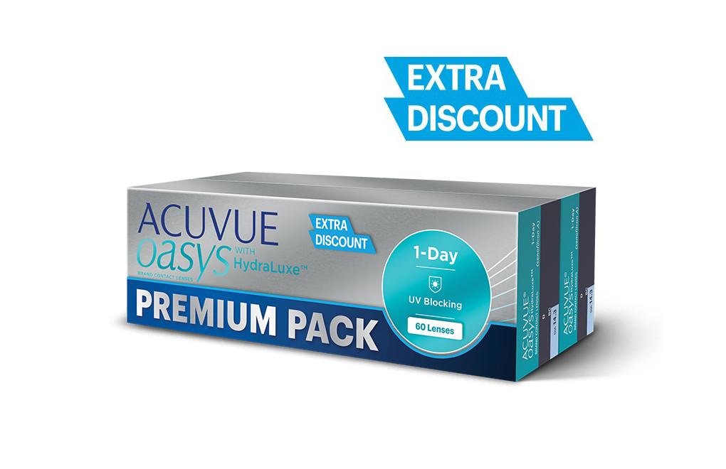 ACUVUE® OASYS 1-Day - Premium Pack - 60 soczewek