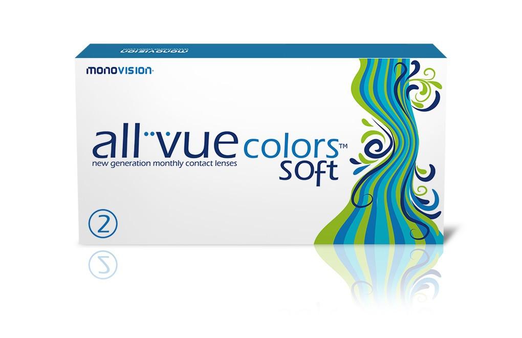 All Vue Colors Soft  Evergreen - 1 soczewka WYPRZEDAŻ
