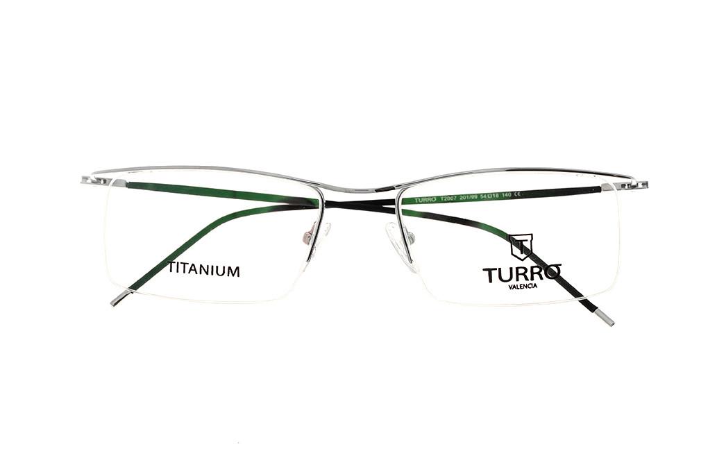 TURRO T2007 TITANIUM kolor 201/99 rozmiar 54
