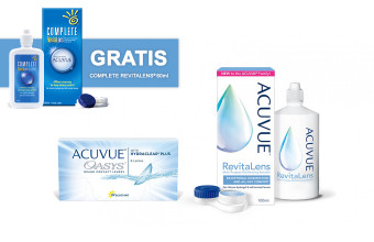 Acuvue 6 soczewek + płyn Acuvue 100 ml – w prezencie płyn 60 ml