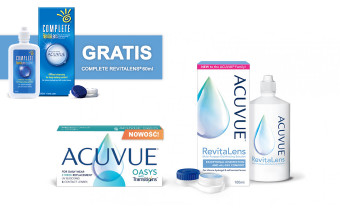 Acuvue with Transitions 6 soczewek + płyn Acuvue RevitaLens® 100 ml
