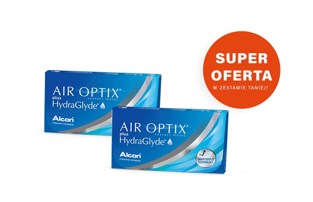 Air Optix plus Hydra Glyde - 2 x 3 soczewki