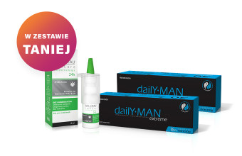 Zestaw 2x DailY MAN Extreme™ + SEE L'EAU EyeCare AloeVera Drops