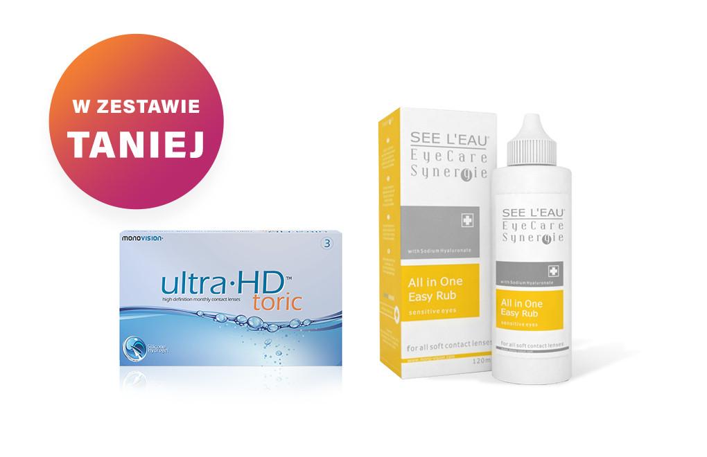 Zestaw Ultra HD Toric + SEE L'EAU EyeCare Synergie 120ml