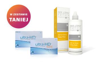 Zestaw 2x Ultra HD Toric + SEE L'EAU EyeCare Synergie 350ml