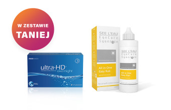 Zestaw Ultra HD Overnight™ + SEE L'EAU EyeCare Synergie 120ml