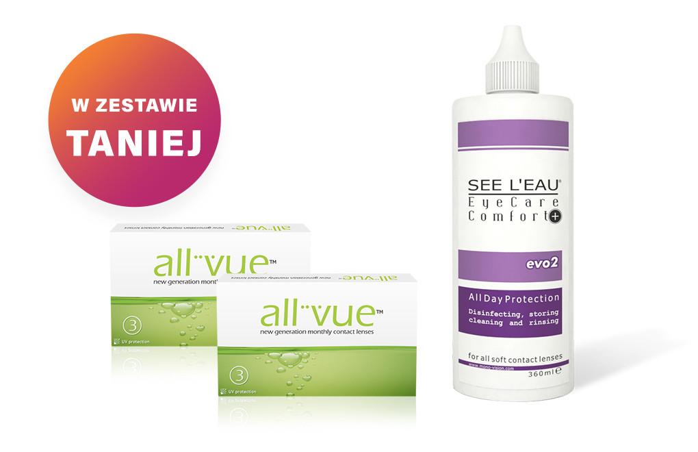 Zestaw 2x All Vue™ + SEE L'EAU EyeCare Comfort+ 360ml