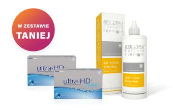 Zestaw 2x Ultra HD™ Aqua - 3 soczewki + SEE L'EAU EyeCare Synergie 350ml