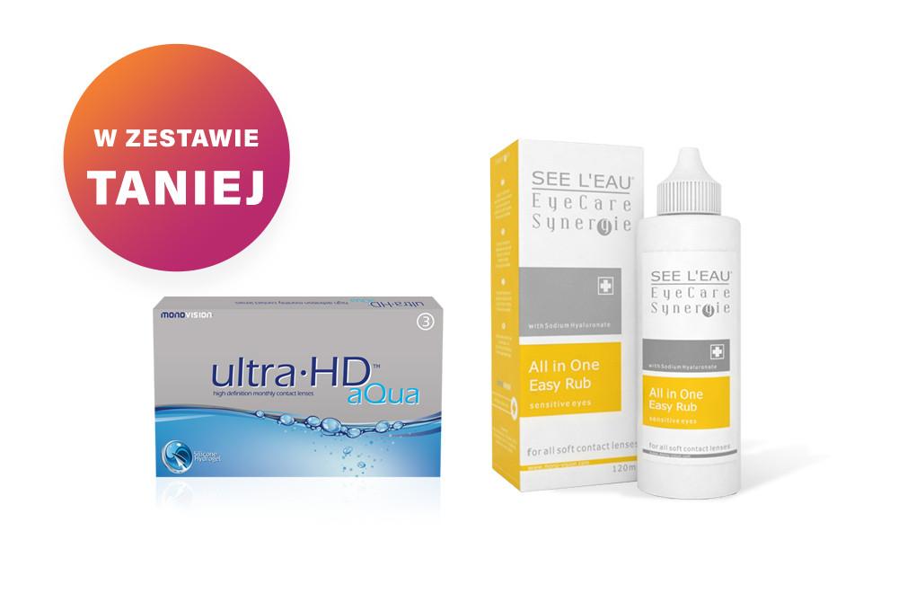 Zestaw Ultra HD™ Aqua - 3 soczewki + SEE L'EAU EyeCare Synergie 120ml