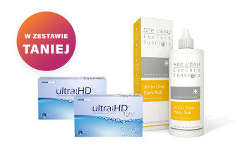 Zestaw 2x Ultra HD Light + SEE L'EAU EyeCare Synergie 350ml