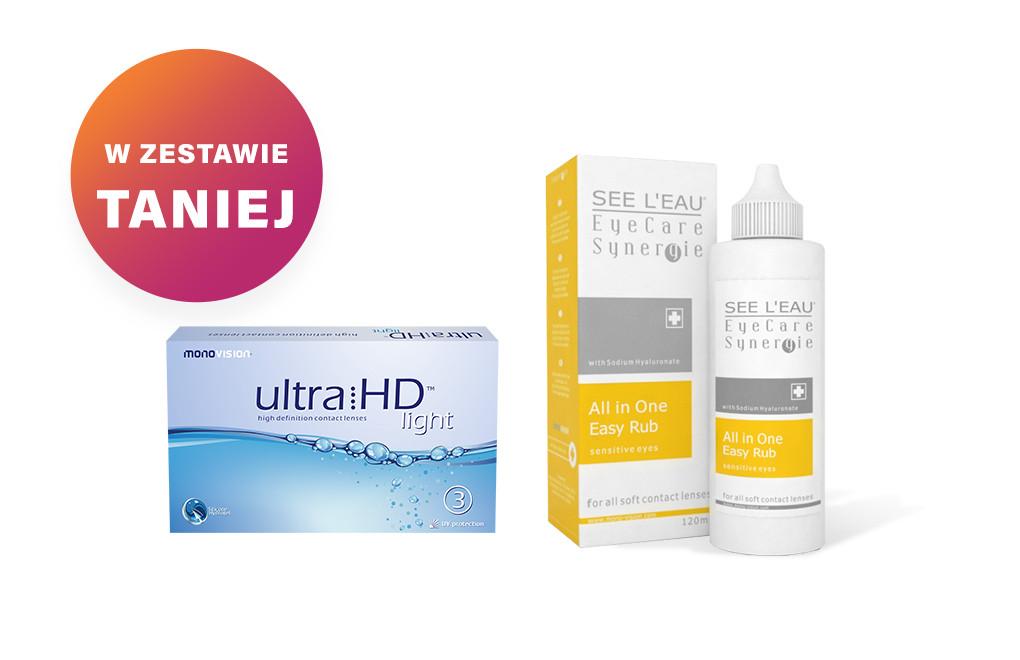 Zestaw Ultra HD Light + SEE L'EAU EyeCare Synergie 120ml