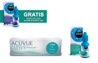 Zestaw ACUVUE® OASYS 1-Day + Krople Blink Contacts + Krople Blink Intensive GRATIS