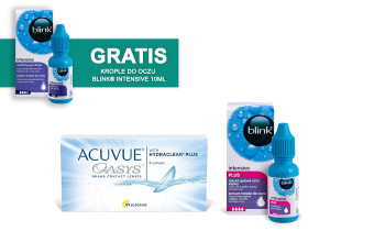 Zestaw ACUVUE® OASYS + Blink® Intensive Plus 10ml + Blink® Intensive 10ml GRATIS