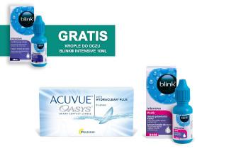 Zestaw ACUVUE® OASYS + Blink® Intensive Plus 10ml + Blink® Intensive 10ml GRATIS