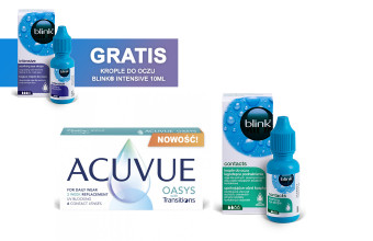 Zestaw ACUVUE® OASYS with Transitions 6 soczewek + Krople Blink Contacts + Krople Blink Intensive GRATIS