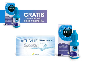 Zestaw ACUVUE® OASYS + Blink Intensive 10ml + Blink Intensive 10ml GRATIS
