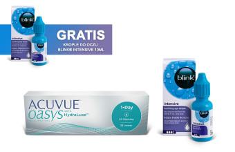 Zestaw ACUVUE® OASYS 1-Day + Krople Blink Intensive + Krople Blink Intensive GRATIS