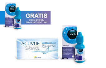 Zestaw ACUVUE® OASYS for ASTIGMATISM + Krople Blink Intensive + Krople Blink Intensive GRATIS