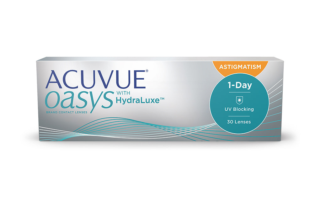 ACUVUE® OASYS 1-DAY with HydraLuxe™ TECHNOLOGY for ASTIGMATISM - 30 soczewek