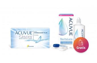 ACUVUE® OASYS 2-WEEK with HYDRACLEAR® PLUS 6 soczewek + płyn Acuvue 100ml