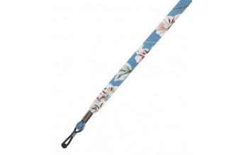 Sznureczek do okularów kwiaty - niebieski