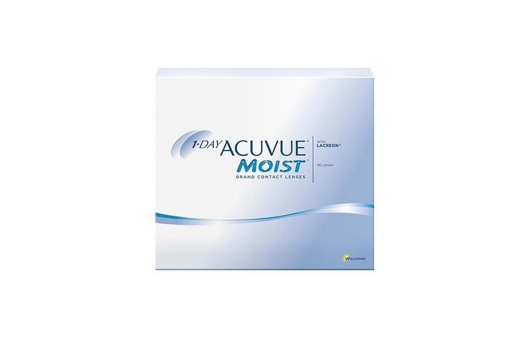 Acuvue 1-DAY MOIST - 90 soczewek + CashBack 22,50zł