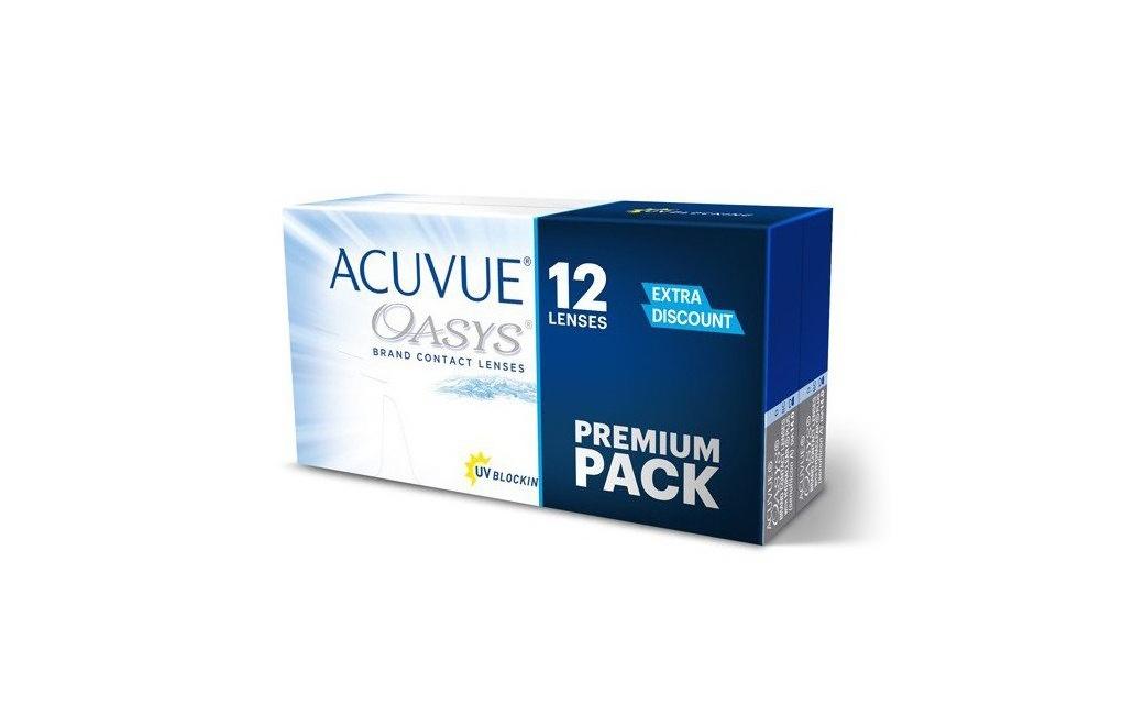 ACUVUE® OASYS - Soczewki dwutygodniowe - Premium Pack - 12 soczewek
