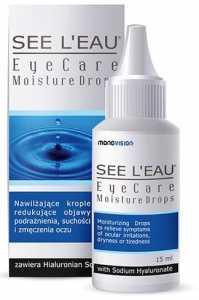 SEE L'EAU® MOISTURE DROPS krople do oczu (sztuczne łzy), które dzięki zawartości Hialuronianu Sodu przynoszą natychmiastową ulgę suchym i zmęczonym oczom.