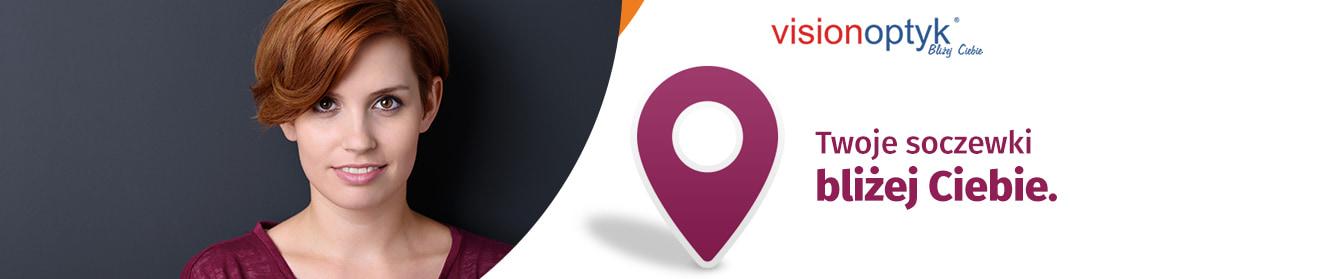 Sprawdź gdzie możesz odebrać soczewki w salonach Vision Optyk