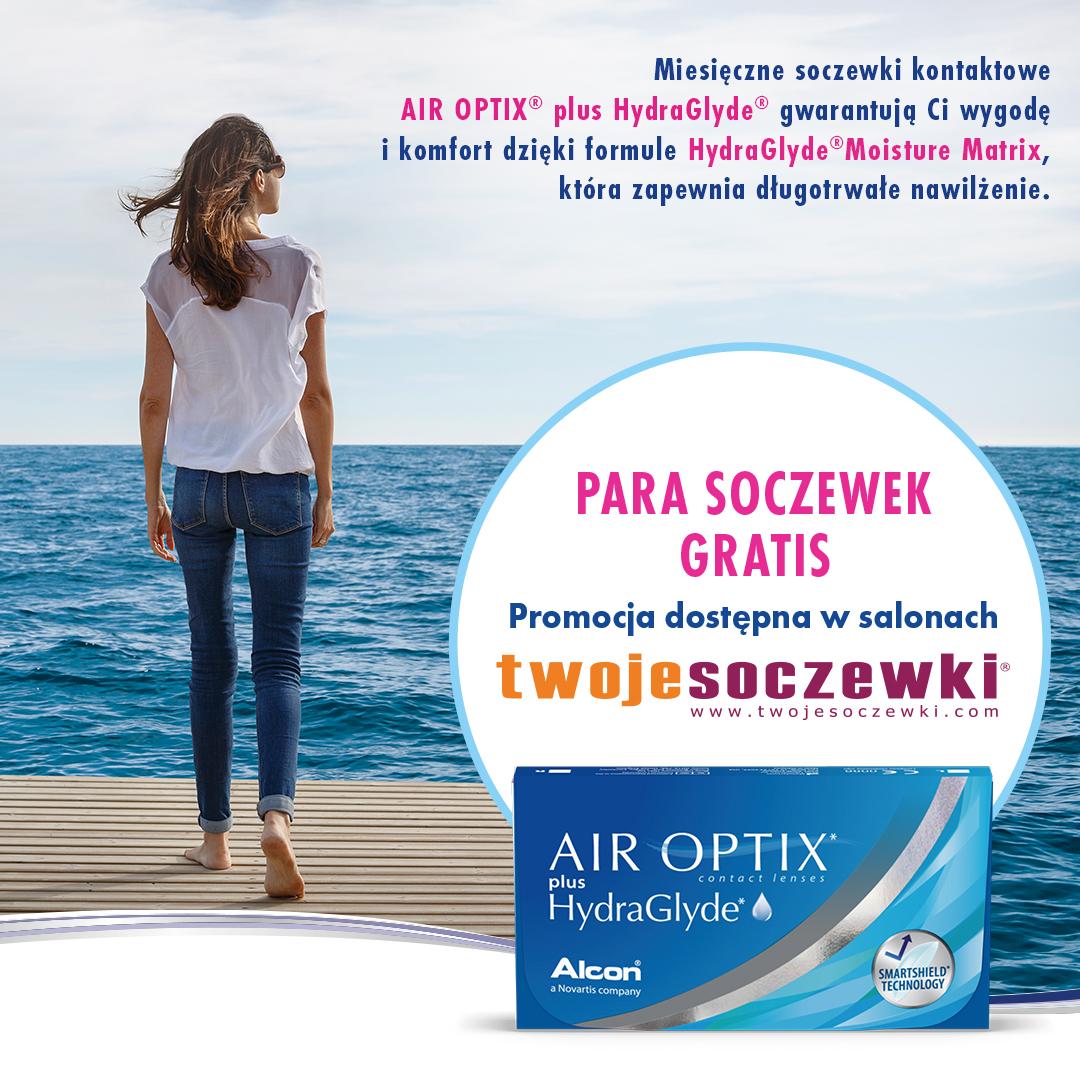 Odbierz gratis parę soczewek Air Optix® plus HydraGlyde®