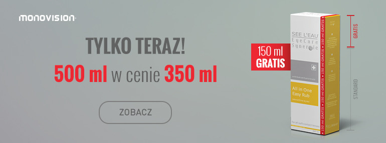 Promocja płyn SEE L'EAU EyeCare Synergie 500 ml w cenie 350 ml