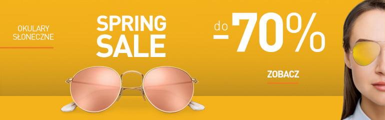 SPRING SALE promocja na okulary słoneczne - 70%