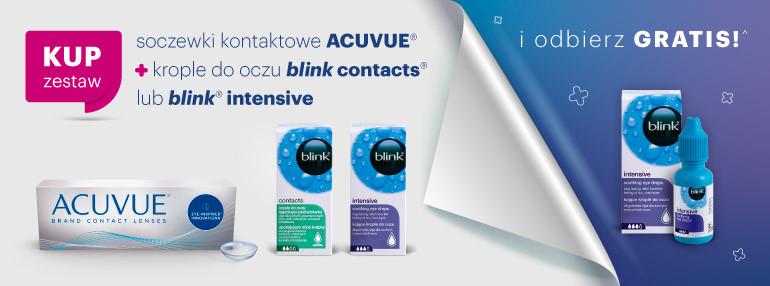 Soczewki kontaktowe ACUVUE + krople do oczu blink contacts + krople w prezencie