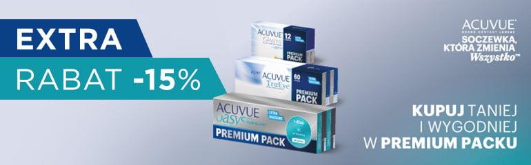 Soczewki Acuvue w promocyjnym Premium Packu