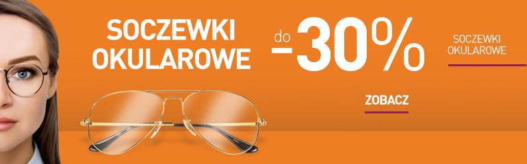 Promocja na soczewki okularowe: do - 30% na wybrane pakiety