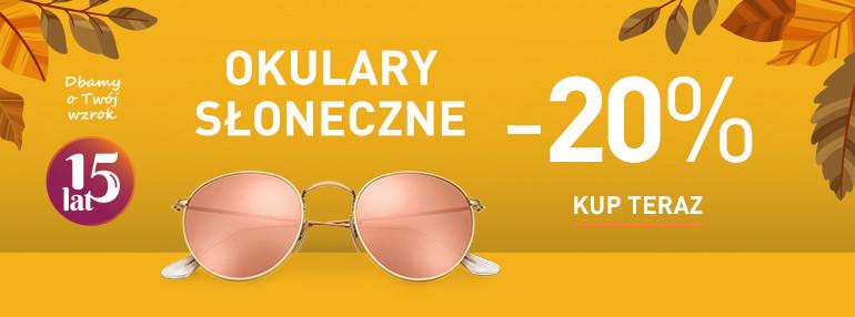-20% na okulary przeciwsłoneczne