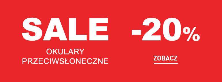 Sale -20% na okulary przeciwsłoneczne